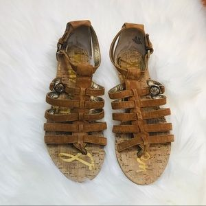 Sam Edelman Donna Gladiator Sandals Saddle Brown 5